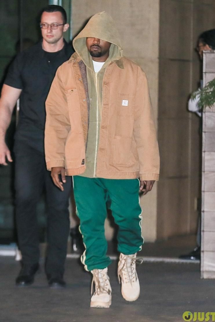 97f15bc26ab07 Kanye West wearing Yeezy Season 3 Military Boot
