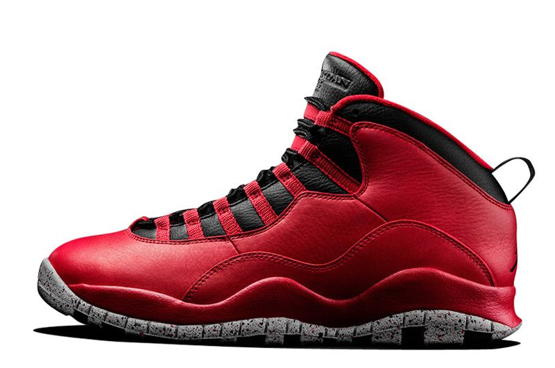 Original For Sale Air Jordan 10 Red Cement Remastered For 2015 Vivid Red Black-White Cement