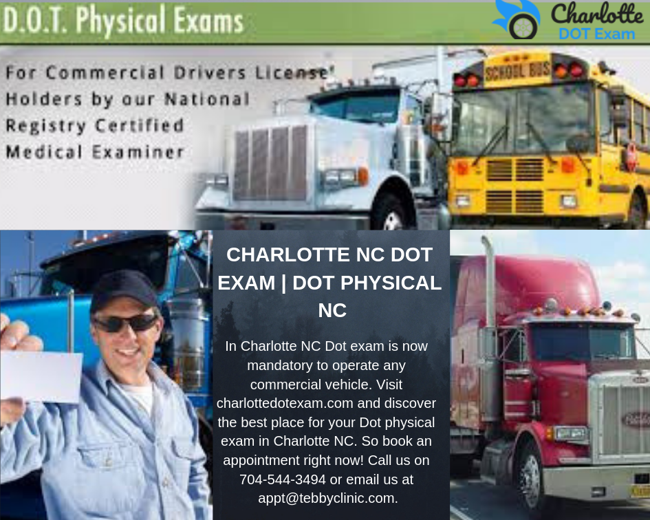 Pin On Dot Physical For Commercial Drivers Charlotte Dot Exam