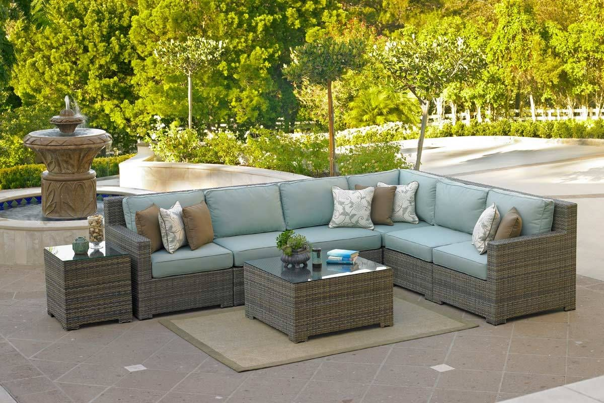 Customizable Outdoor Sectional Sofa Set (Malibu Collection ... on Hhh Outdoor Living  id=59698
