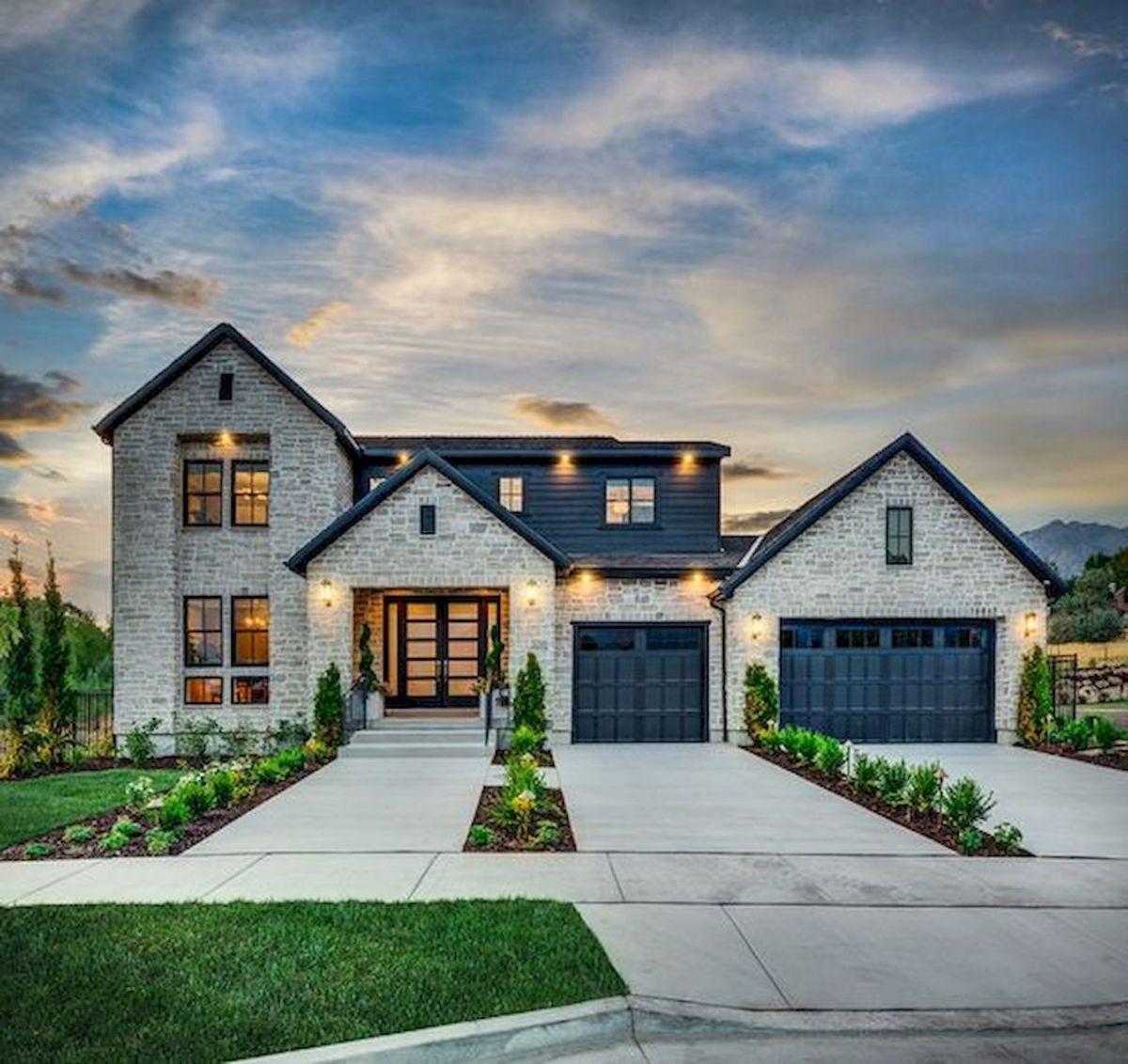 33 Beautiful Modern Farmhouse Exterior Design Ideas 1   33DECOR   Modern farmhouse exterior ...