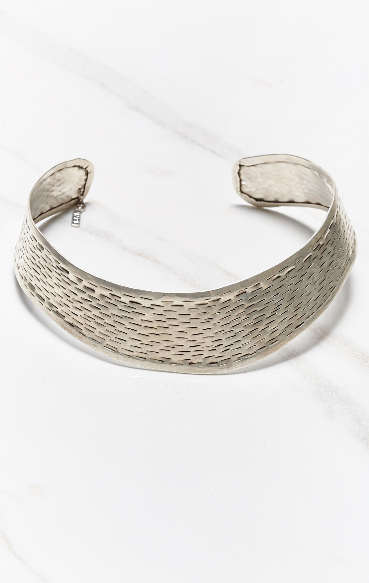 Natalie B Jewelry The Yev Collar in Metallic Silver CjqsItNT