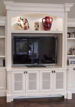 Traditional Living Built In Tv Cabinet Design Ideas Pictures