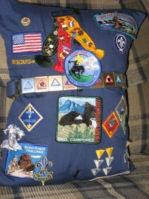 Cub Scout uniform pillow…brilliant idea.