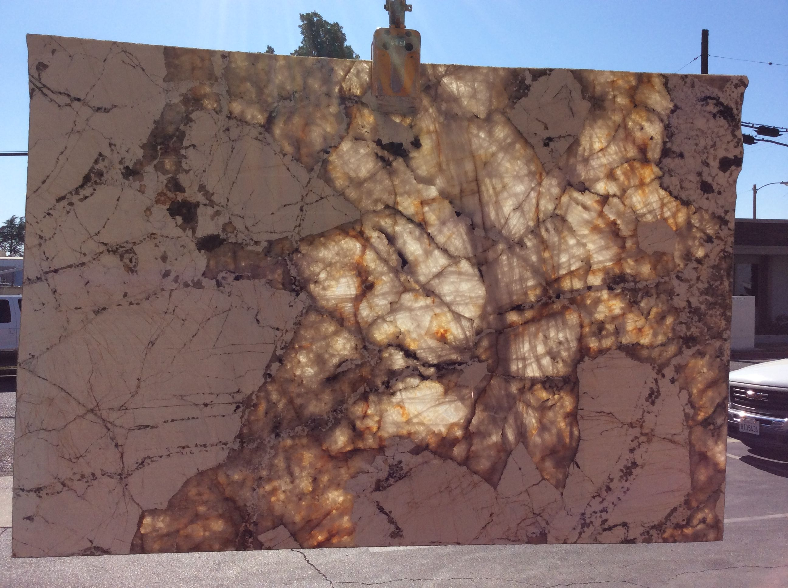 Copenhagen Granite Backlit By The Sun At Our Fresno Location