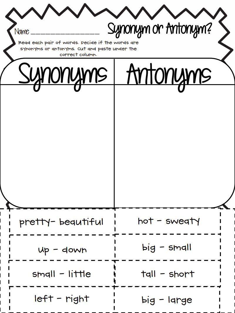 3 Worksheet Free Preschool Kindergarten Worksheets Synonyms Antonyms Write  Synonyms Synonym o...   Synonyms and antonyms [ 1067 x 800 Pixel ]