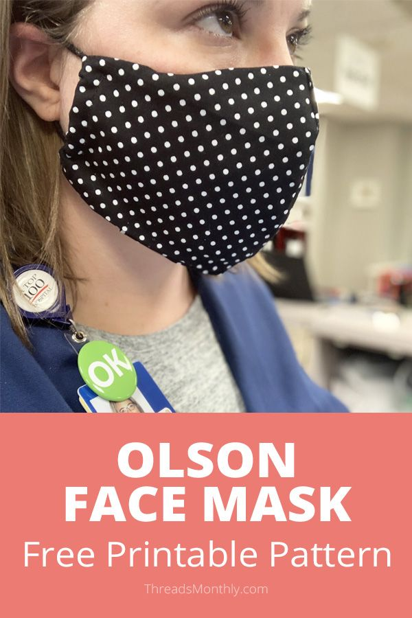 Photo of Face Mask Pattern with FILTER POCKET + Free Printable