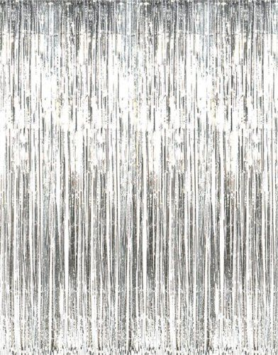 Metallic Silver Foil Fringe Curtains 1 Pc Fun Express Http