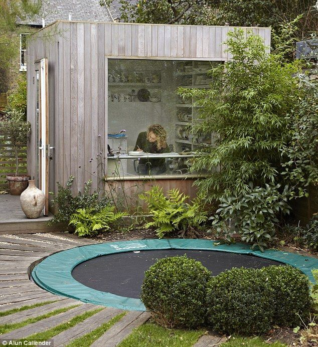garden office lous design studio made by london garden studios - Garden Design With Trampoline