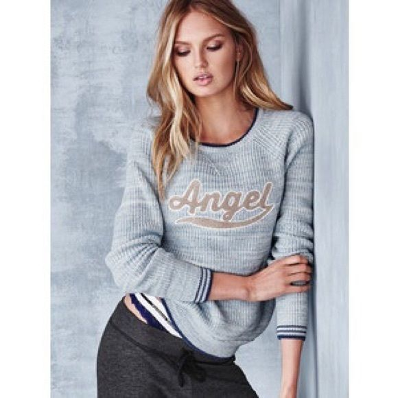 """Victoria's Secret Sweater Small Like new. VS sweater with """"ANGEL"""" on front. Super comfy! Victoria's Secret Sweaters Crew & Scoop Necks"""