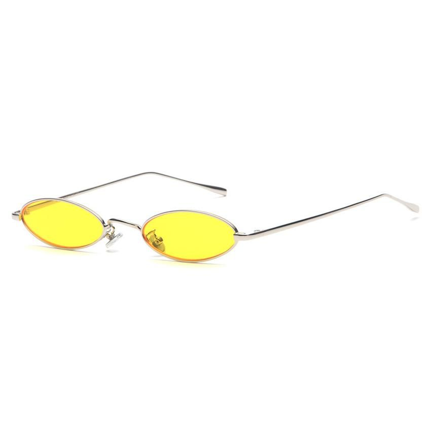 e6ce4193f09 Small Oval Sunglasses for men Male retro Metal frame yellow red vintage  small round sun glasses for women 2018