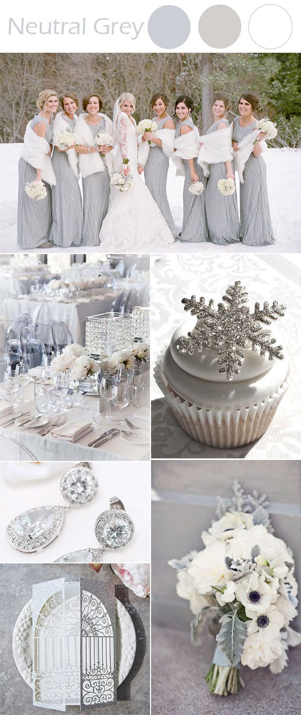 The Best 10 Winter Wedding Colors to Inspire   Neutral, Elegant and ...
