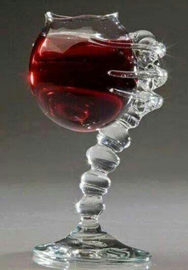 Unique designed wine glass...