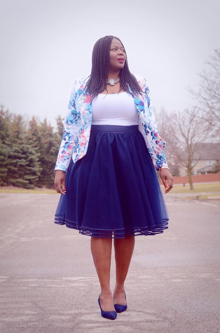 Navy Tulle Skirt | My Style | Fashion, Plus size fashion ...