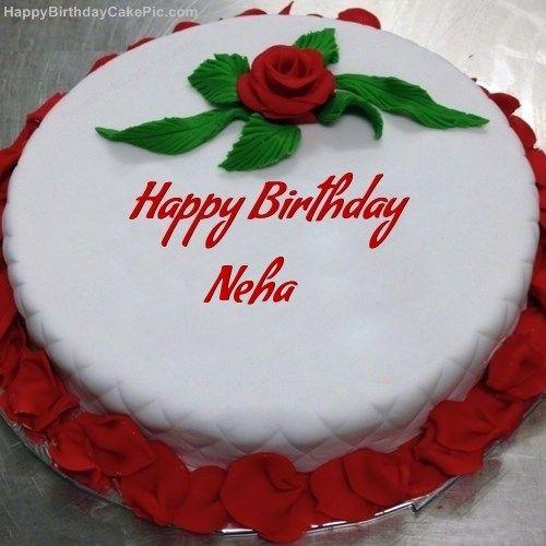 Happy Birthday Neha Cake Image Happy Birthday Names Birthday