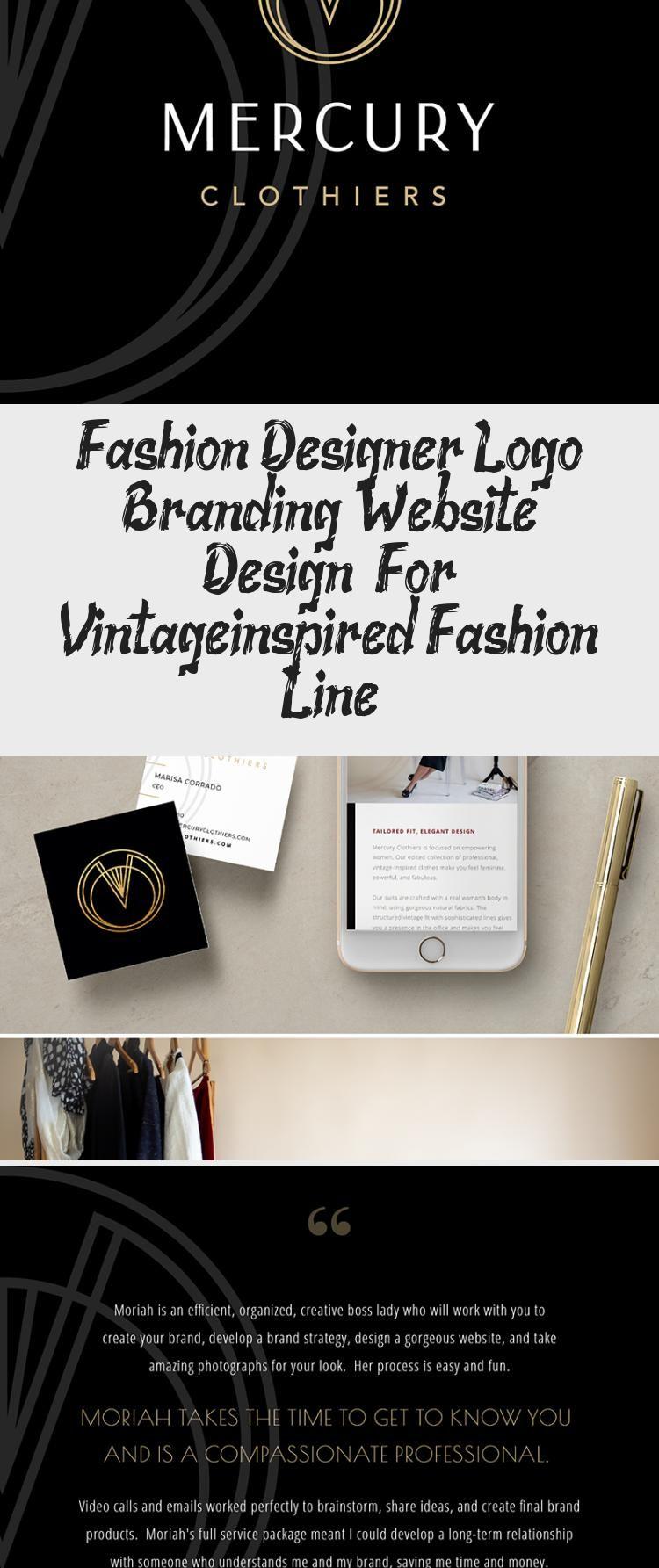 Fashion Designer Logo Branding Website Design For Vintage Inspired Fashion Line Branding Website Design Logo Design Website Branding