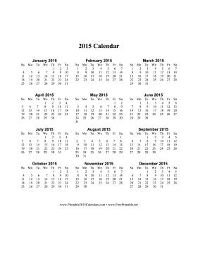2015 calendar on one page vertical calendar home decor misc