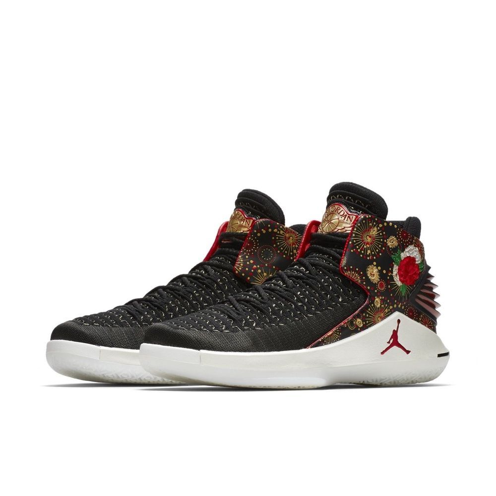 039a71c04041 AIR JORDAN XXXII CNY CHINESE NEW YEAR Aj 32 Black Gold SIZE 10.5 READY TO  SHIP