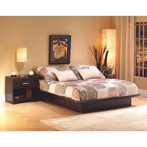 cet lgant lit plateforme grandeur queen convient parfaitement toutes les chambres coucher ce - Lit Queen Size