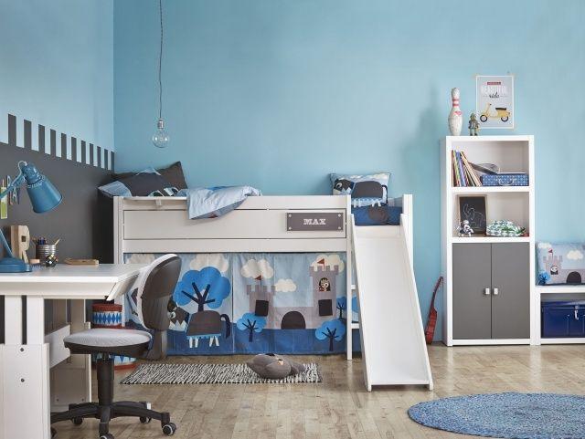 Lit mezzanine enfant - 25 belles idées gain d\'espace | Lit mezzanine ...