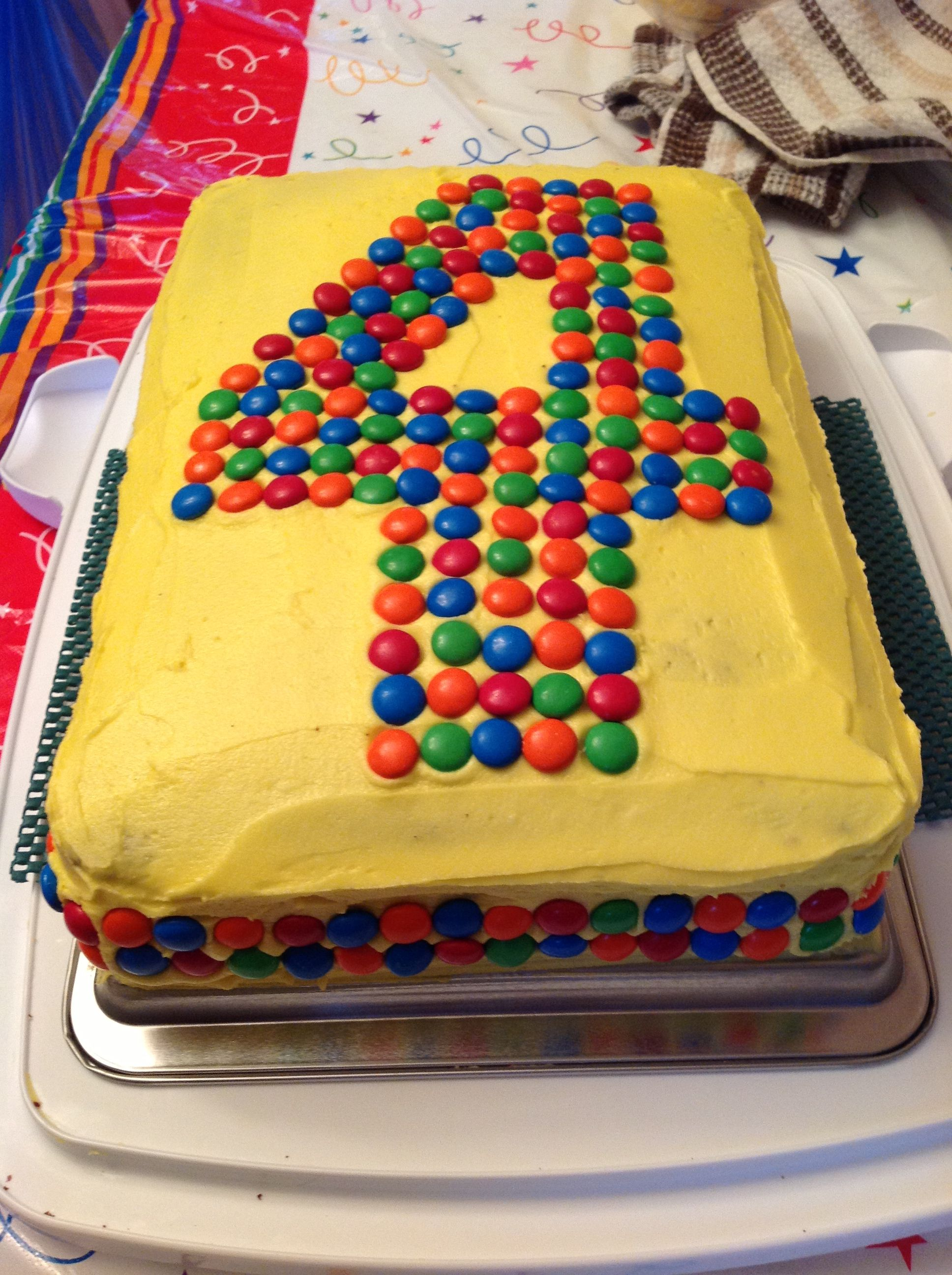 Number 4 Cake Buttercream Icing And M M S Super Easy Super