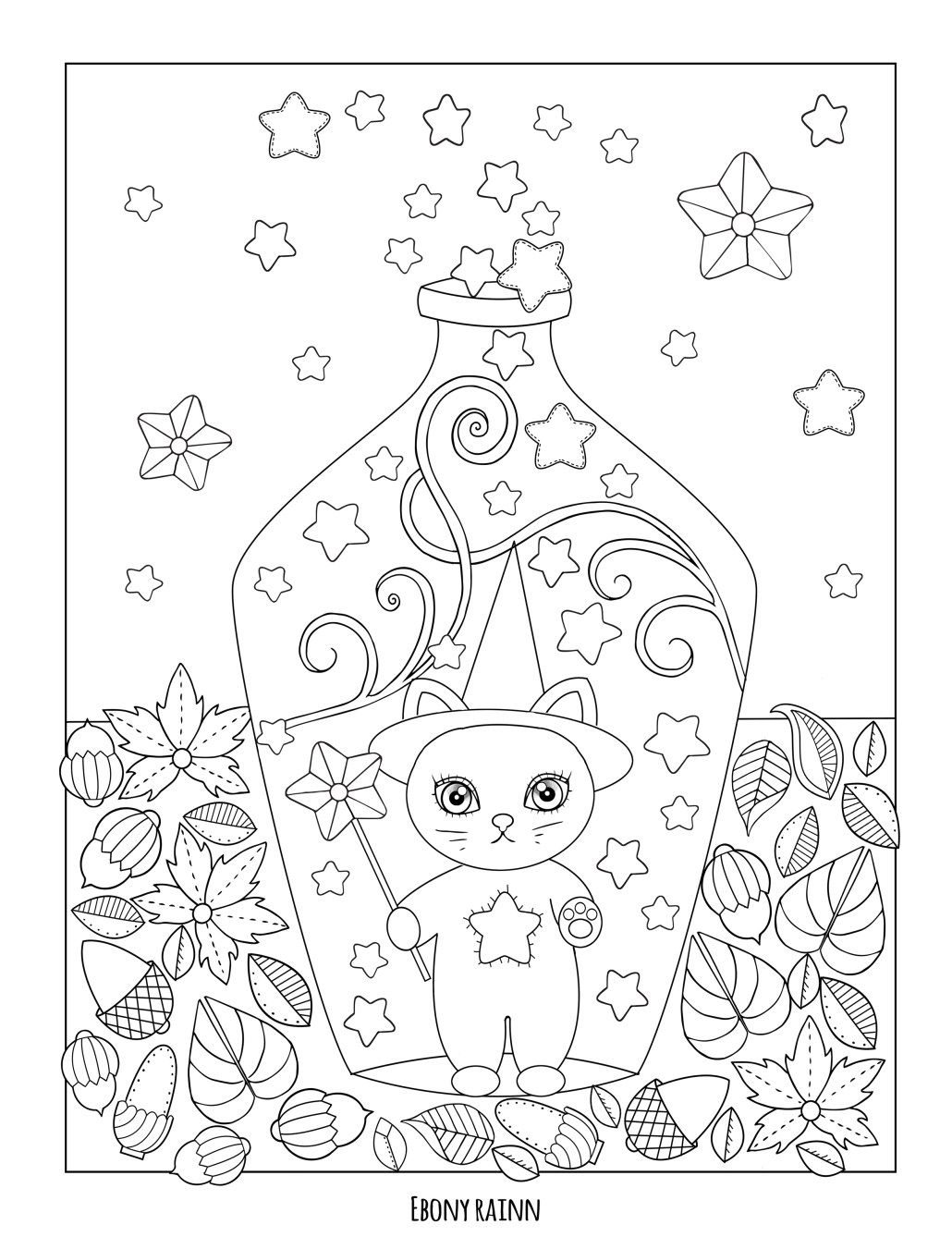 Ebony Rainn Coloring books, Cute coloring pages, Fall