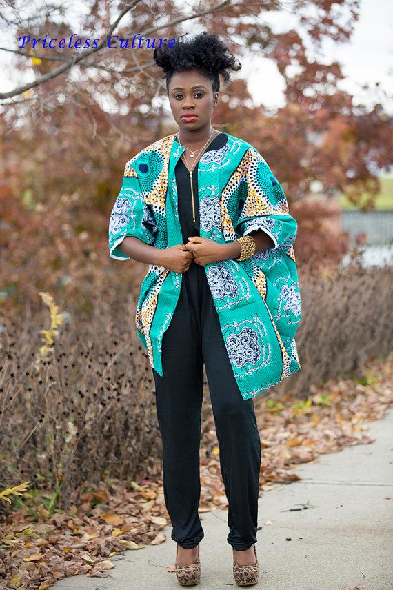 c27f8fc3fe5 Oversized Turquoise African Kimono Blue African Dress Kimono One Size Fits  All Kimono Ankara Kimono