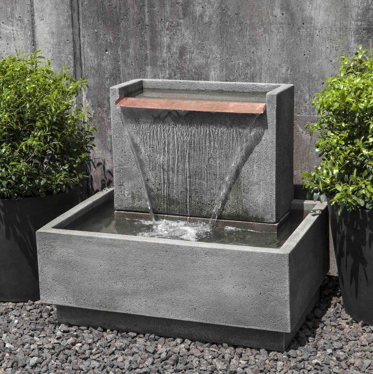 Falling Water Fountains Water Features In The Garden Diy Water