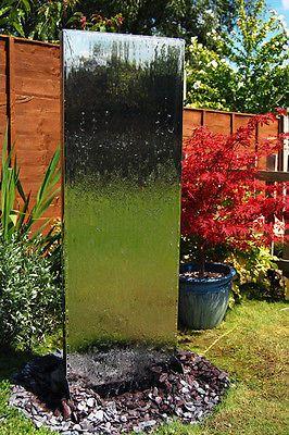 Details zu Wasserwand aus Edelstahl Brunnen Wasser Spiel Zier ...