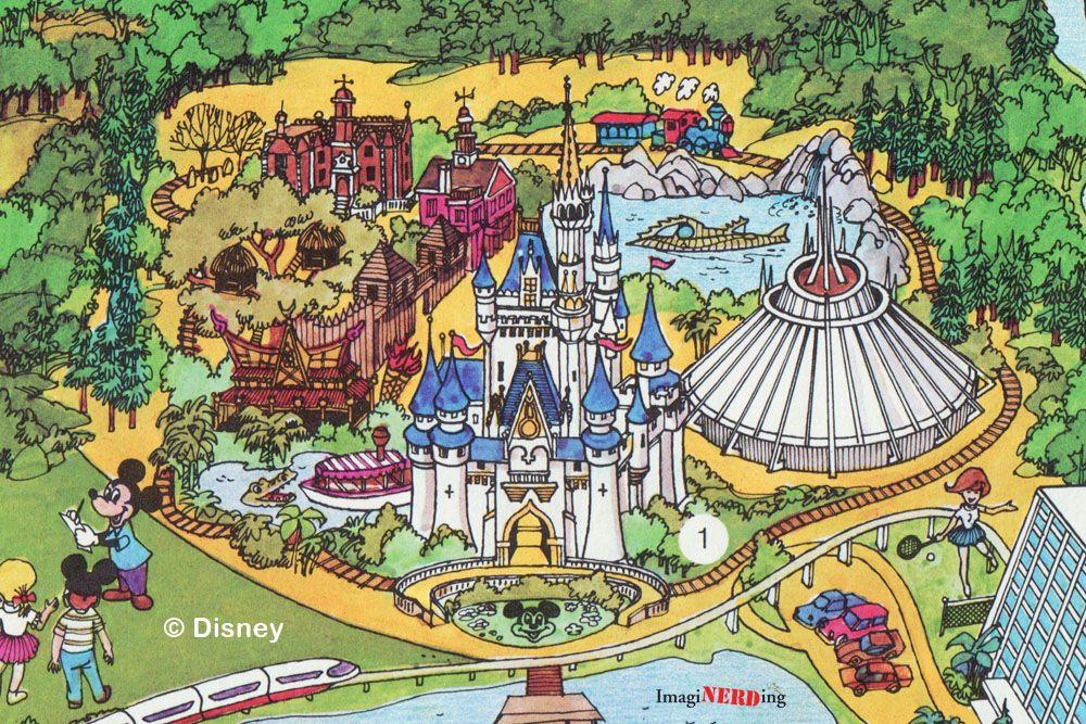 Magic kingdom walt elias disney pinterest disney fun and lets stroll though the history of the magic kingdom by looking at magic kingdom maps gumiabroncs Image collections