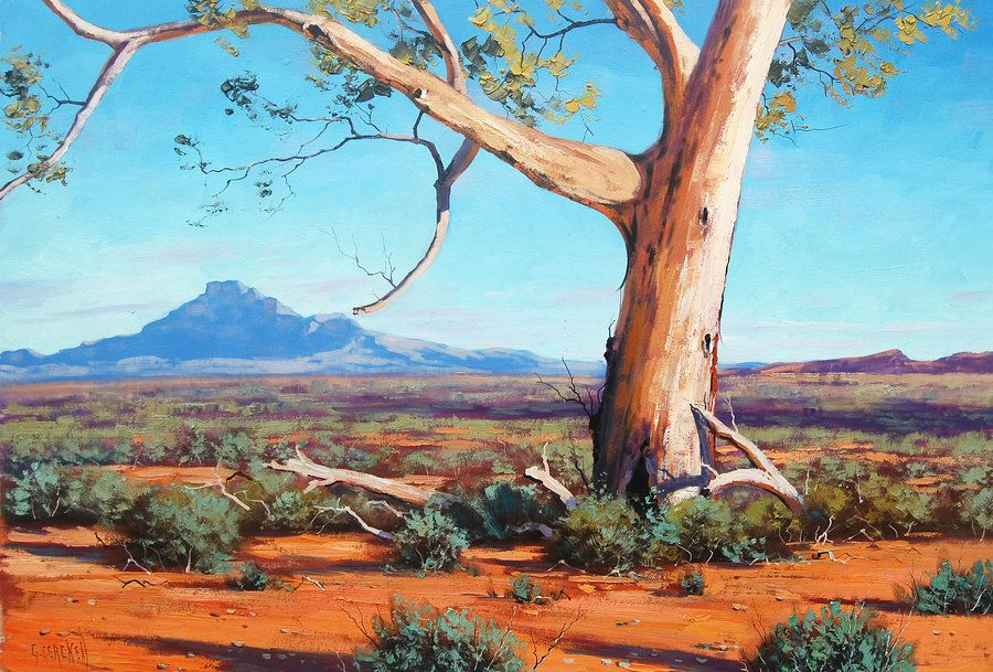 Australian Outback Flinders Ranges Graham Gercken Australian Painting Oil Painting Landscape Landscape Paintings