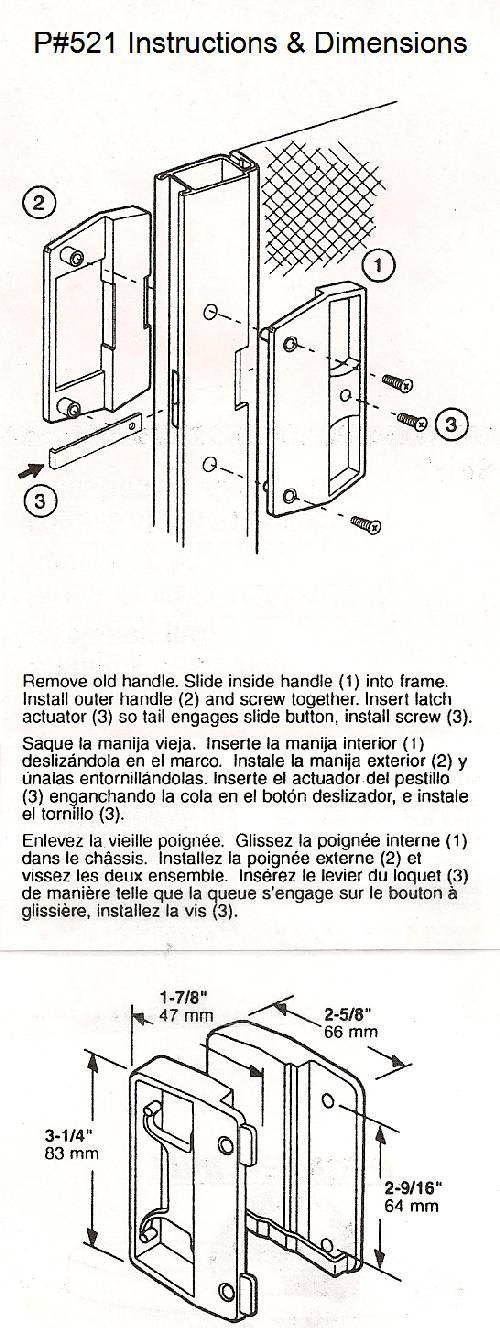 How To Install Hurd Sliding Screen Door Handle Screen Door Handles Sliding Screen Doors Door Handles