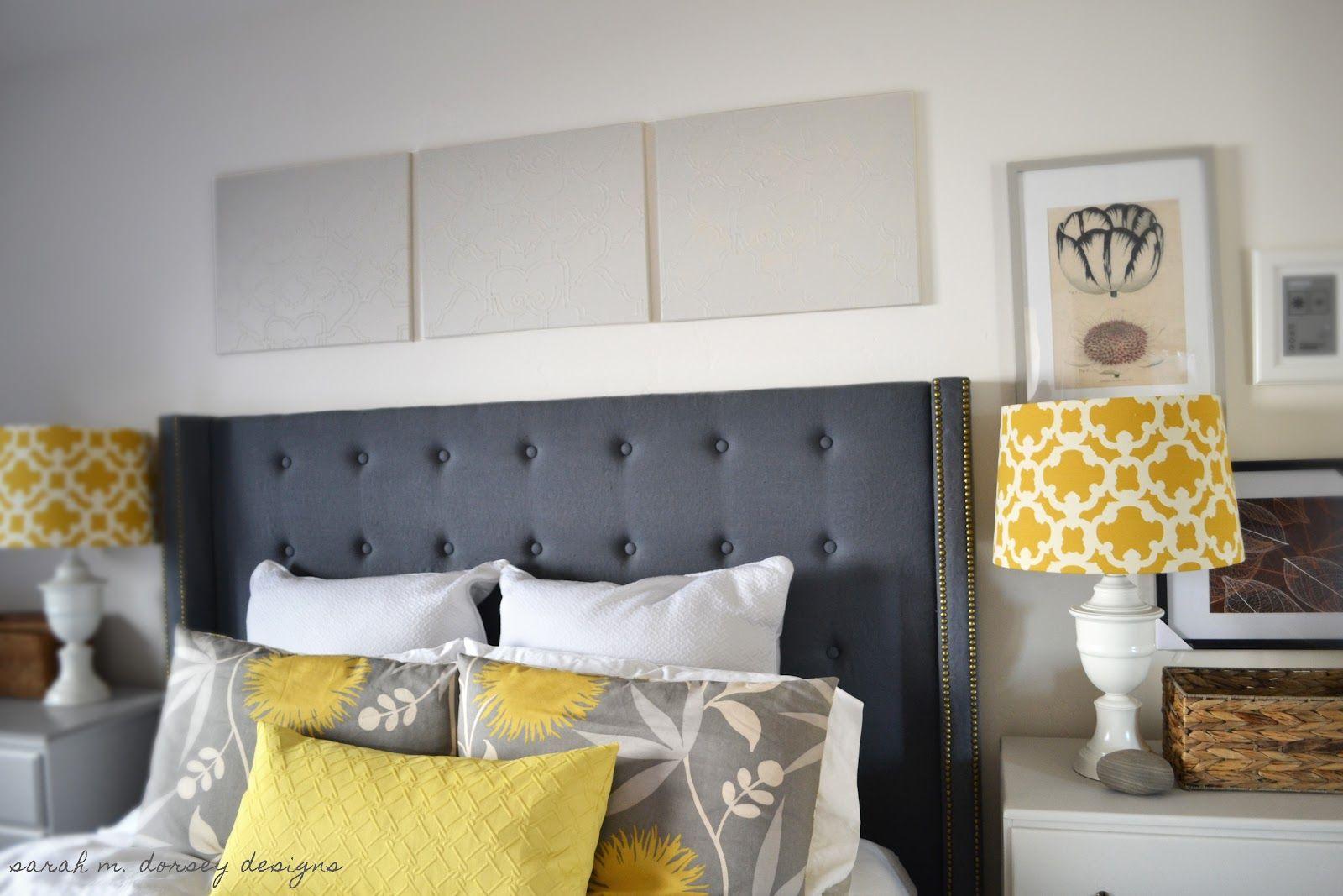Elegant King Headboard Ideas | Admirable Grey Tufted Wing IKEA King Size Headboard  Design Inspiration .