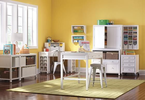 Delightful The Perfect Craft Room Featuring Martha Stewart Craft Tables And Furniture  Is An Easy Way To Part 20