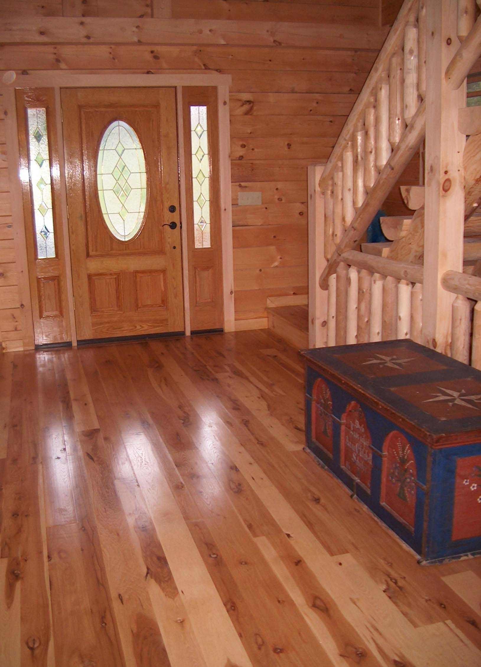 exciting log home decorating ideas. Wood flooring Hickory Floor in Natural Grade  Wide Plank Sawmill