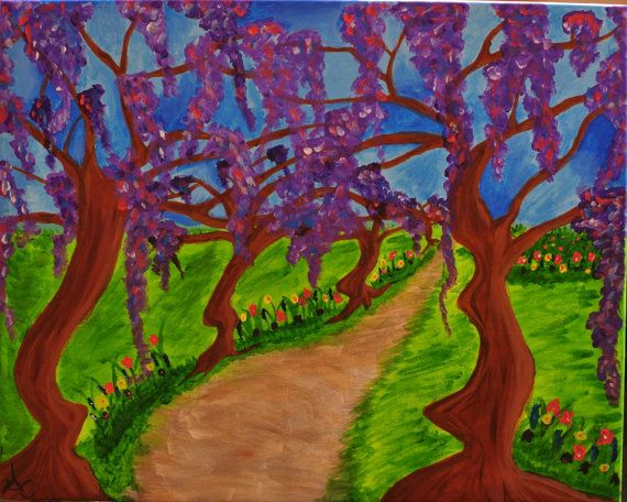 Original 16 x 20 Acrylic Painting Serene by Imperfection81