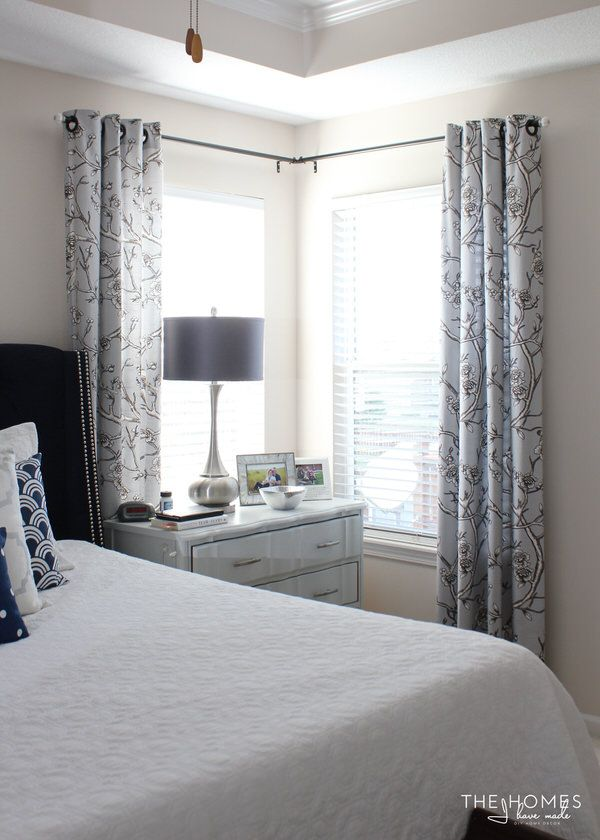 Making The Case For Curtains   Master Bedroom Corner Window Curtains, Small  Curtains, Corner
