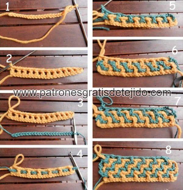 Aprende a tejer crochet entrelazado o interlocking / Técnica de ...