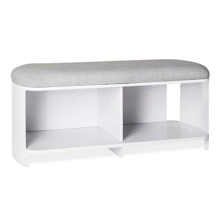 Groovy Bench White Gray Modern By Dwell Magazine Target 19 Andrewgaddart Wooden Chair Designs For Living Room Andrewgaddartcom