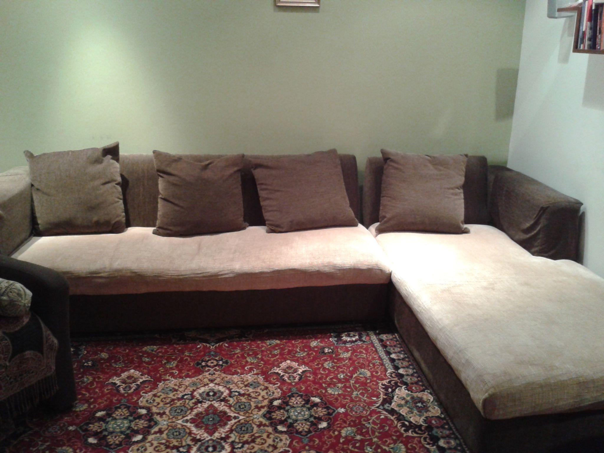 Best Krakeeb L Shape Sofa 2 Partsand 5 Large Cushions Color 400 x 300