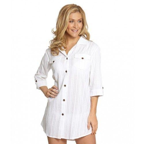 2165e27b99 Dotti Beach Sanibel Island Shirt Dress Cover Up White | Dotti ...