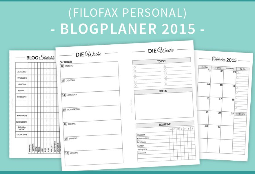 blogplaner 2015 in personal size filofax interessant. Black Bedroom Furniture Sets. Home Design Ideas