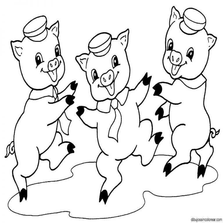 3 Cerditos Dibujos Para Pintar Cerditos Cerdo Dibujo Y Cerdo