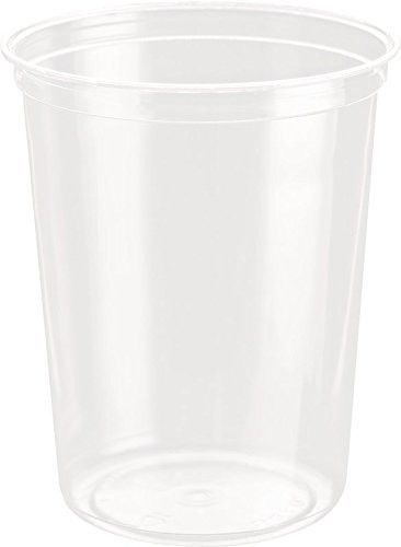 32 Oz Crystal Clear Plastic Tub 500 Case Tub Food Containers