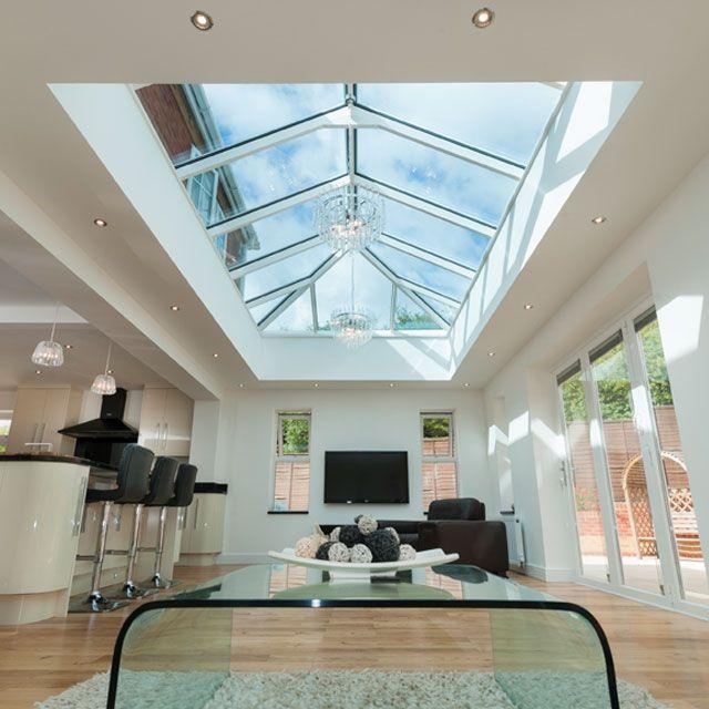 Flat Roof Kitchens : Aluminium roof lantern skylight and flat