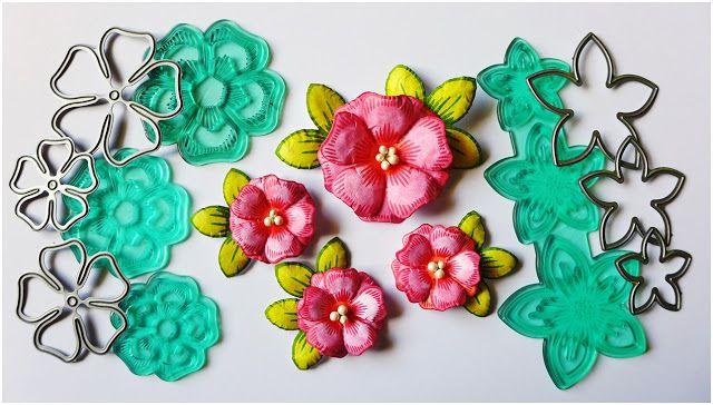 Dt Craft Passion Kurs Kwiaty Tutorial Flowers Vellum Crafts Crafts Flowers