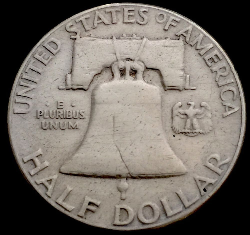 1956 Philadelphia Franklin Silver Half Dollar. Nice Grade And Low Mintage.