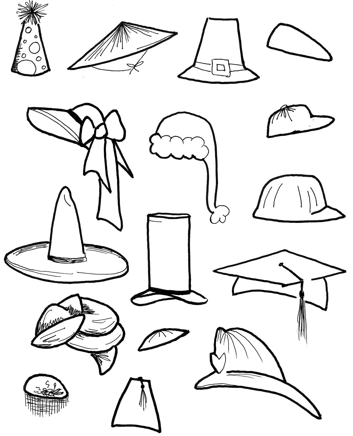 Hat Coloring Pages Coloring Pages Flower Coloring Pages Fairy