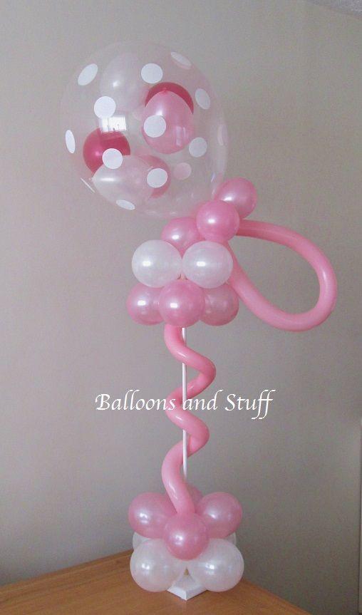 Rattle balloon table centrepiece decoration christening