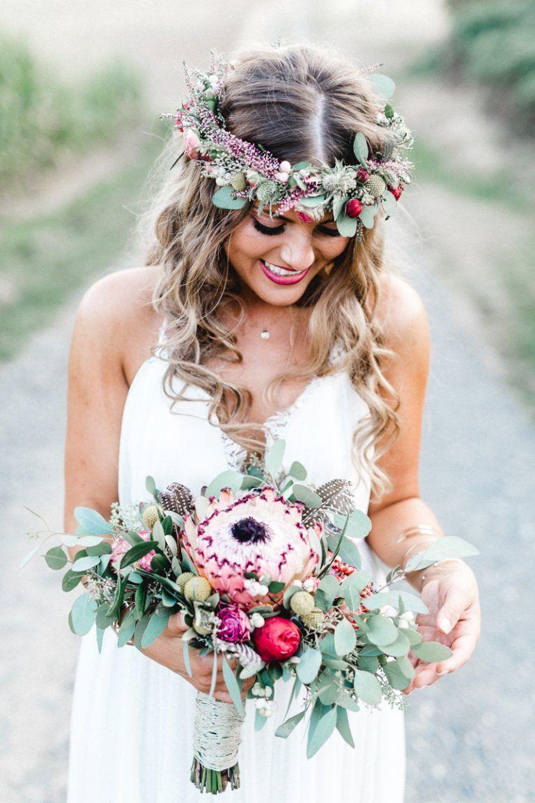Romantische Boho Hochzeit #outdoorflowers